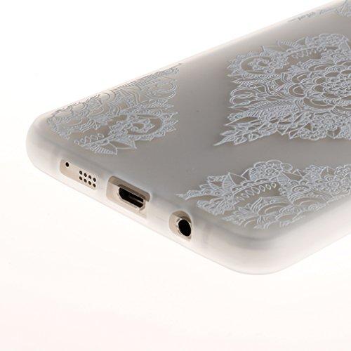Funda Samsung Galaxy A5 2016 SM-A510F,XiaoXiMi Carcasa de Silicona TPU Suave y Esmerilada Funda Ligero Delgado Carcasa Anti Choque Durable Caja de Diseño Creativo - Flores de Datura Flores de Datura