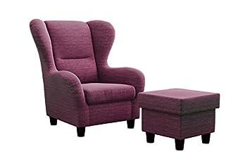 Ohrensessel Möbelfreude® Landhausstil Mit Hocker U0026quot;Savanau0026quot;  Cocktail Sessel Wohnzimmer Sessel