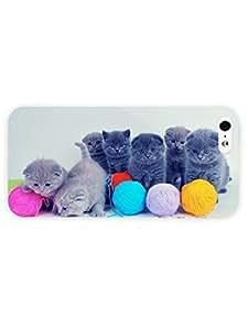 3d Full Wrap Case for iPhone 5/5s Animal Gray Kittens17