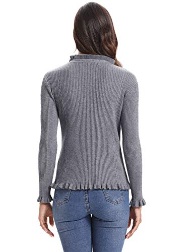 Femme Dentelle Femme Rond Winter Pull Pull Femme Femme Confort Longues Pull Femme Tops Manches Pull Automne sous Chic Basique Col Girs qzxORw1z4