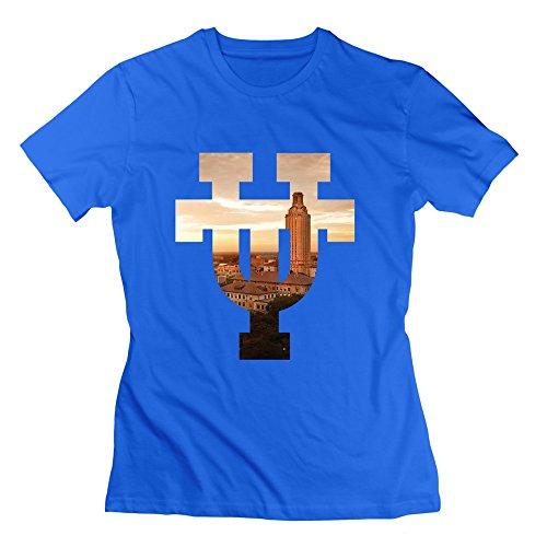 WXTEE Women's University Of Texas Austin UT Campus Scene T-shirt Size XL RoyalBlue -