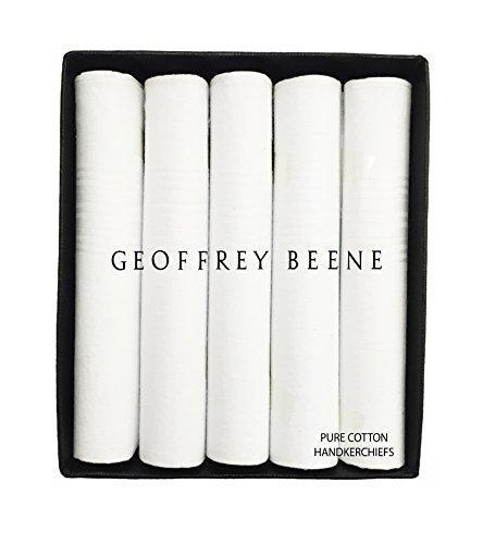 Geoffrey Beene 5 Pack Handkerchiefs (White) by Geoffrey Beene