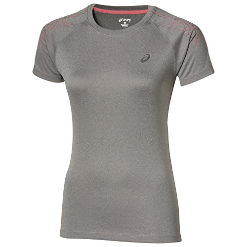 Asics Stripe Women's Correr T-Shirt - AW16 Gris