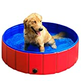 GRULLIN Pet Swimming Pool Portable Foldable Pool Dogs Cats Bathing Tub Bathtub Wash Tub Water Pond Pool (48by12inch)