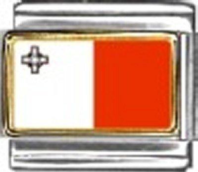 Malta Photo Flag Italian Charm Bracelet Jewelry - Charm New Photo Italian 9mm