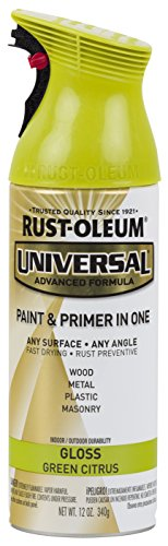 Rust-Oleum 284962 Universal All All Surface Spray Paint, 12 oz, Gloss Citrus Green