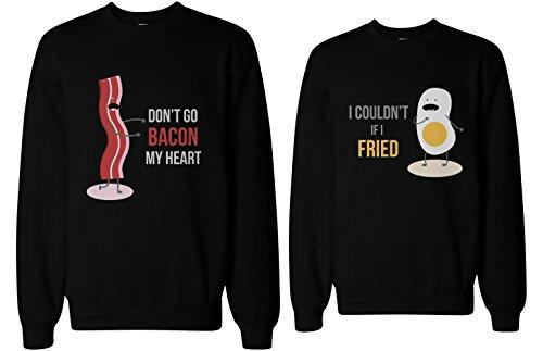 Bacon Couldnt Matching Couple Sweatshirts product image