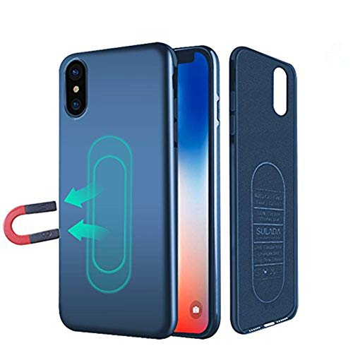 Case for iPhone X/XS,Ultra Thin Magnetic Phone Case for Magnet Car Phone Holder with Invisible Built-in Metal Plate,Soft TPU Shockproof Anti-Scratch Protective Cover for iPhone X/XS 5.8[Blue]