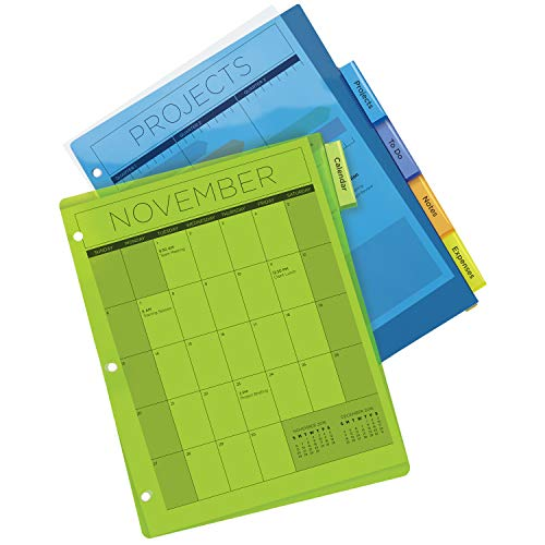 Avery 5-Tab Plastic Binder Dividers, Insertable Multicolor Big Tabs, 1 Set (11900) by Avery (Image #5)