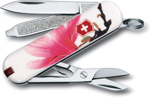 Victorinox Swiss Army Classic SD Pocket Knife, Magnolia – Limited Edition, Outdoor Stuffs