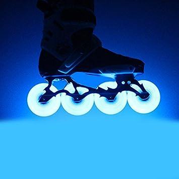 Qjoy - Ruedas de Repuesto para Patines en línea con luz LED 2.51/2.68/2.76/2.83/2.99/3.15 Pulgadas, 4 Unidades: Amazon.es: Deportes y aire libre