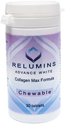 Relumins Advanced White Collagen MAX Formula- Chewable - Firms, Whitens, repairs & rejuvenates skin