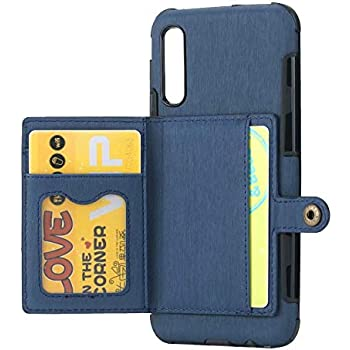 Ranyi Ultra Slim Wallet Case with Credit Card Holder Slots Shock Absorbing Double Magnetic Clasp Premium Leather Flip Folio Wallet Case for Samsung Galaxy S10 Plus Plus Case Galaxy S10 Blue