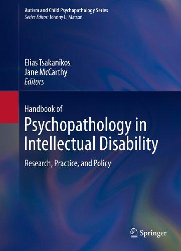 Handbook of Psychopathology in Intellectual Disability (Autism and Child Psychopathology Series) Pdf