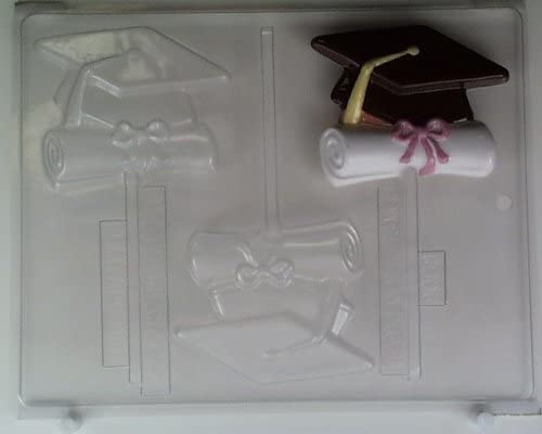 Graduation,Grads,Chocolate Cookie Candy Mold,Clear Plastic,C//K,Diploma