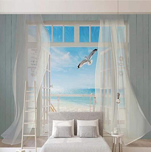 Weaeo リビングルームのテレビの背景のための3D海風景の壁画壁紙壁の壁装飾カスタム任意のサイズのプリント壁画-280X200Cm B07GXR548T 280X200CM 280X200CM