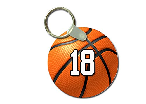 TYD Designs Key Chain Sports Basketball Customizable 2 Inch