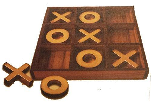 American Vintage Style Jumbo Tic-tac-toe Wooden Board Game (Board Tac Wooden Toe Tic)