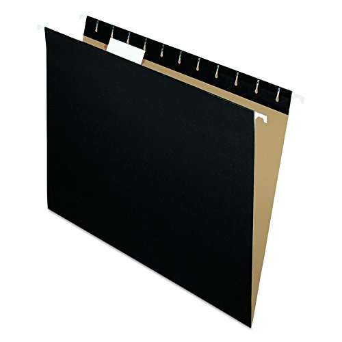 anging Folders, Letter Size, Black, 1/5 Cut, 25/BX (81605) (Black File)