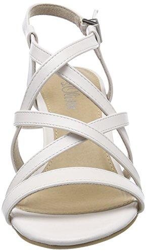 s.Oliver Damen 28335 Slingback Sandalen weiß (white)
