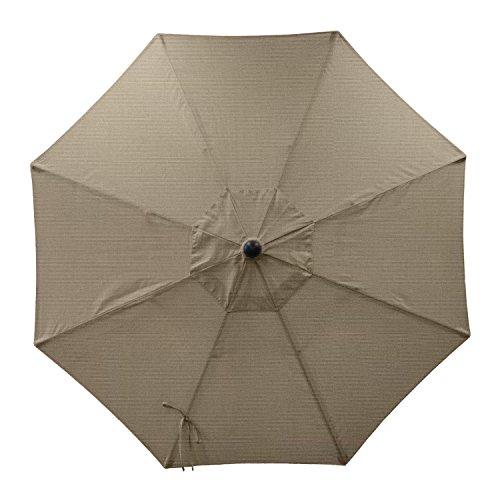 sunbrella patio umbrella replacement canopy 8 ribs 9 feet taupe patio furniture covers patio. Black Bedroom Furniture Sets. Home Design Ideas