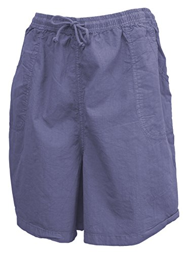 Salem Straits Women's Plus Size 100% Cotton Sheeting Cargo Shorts (Periwinkle, 2X) by Salem Straits