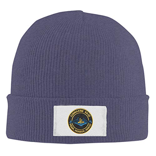 - MAOMXMBD Naval Submarine Base Pearl Harbor Knit Cap Winter Warm Cap Beanie Hats Skull Hats Navy