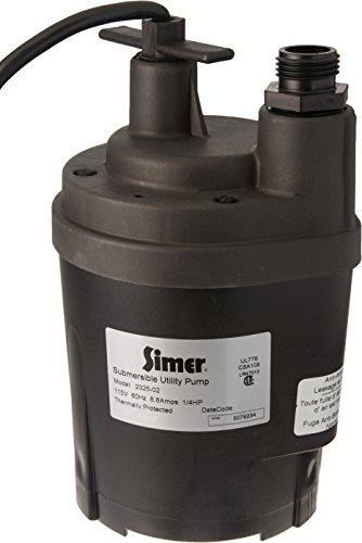 (Simer 2325 1/4 HP Submersible Utility Pump)