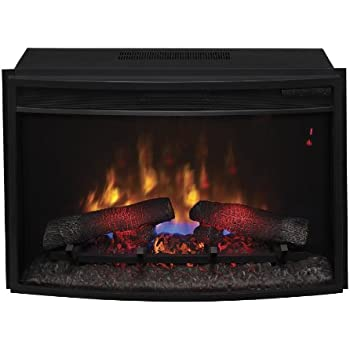 "ClassicFlame 25EF031GRP 25"" Curved Electric Fireplace Insert with Safer Plug"