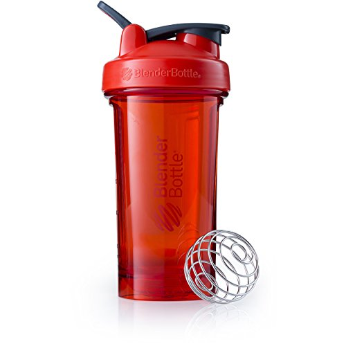 BlenderBottle Pro Series Shaker Bottle, 24-Ounce, Red