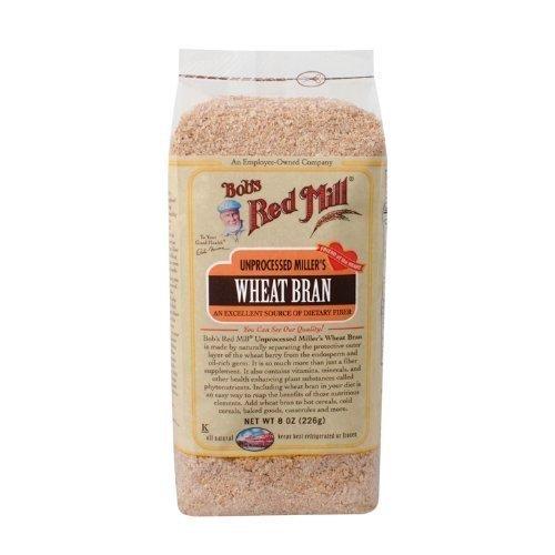 Bob's Red Mill Unprocessed Wheat Bran - 8 oz - 3 pk