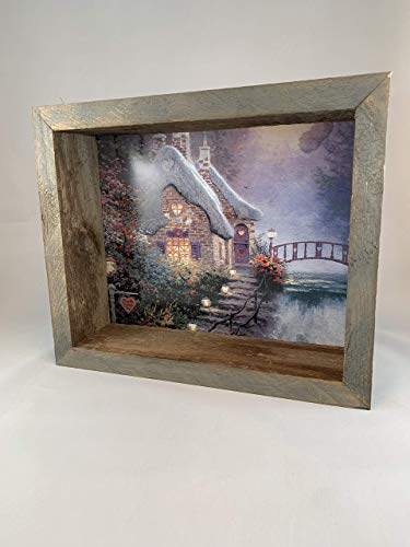 Reclaimed Rustic Barn Wood Collectible Shadow Box Picture Frame