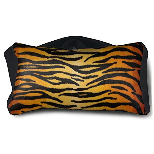 ROCKSKY Eye Mask Pillow for Sleeping Headaches - Animal Print Tiger Black Gold Eye Mask Pillow, Soft Travel Eye Mask Pillow Eye Cover 2 in 1 Travel Pillow and Eye Mask Washable]()
