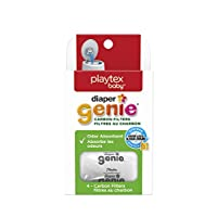 Playtex Diaper Genie Carbon Filter, ideal para usar con Diaper Genie Complete, eliminador de olores, paquete de 4