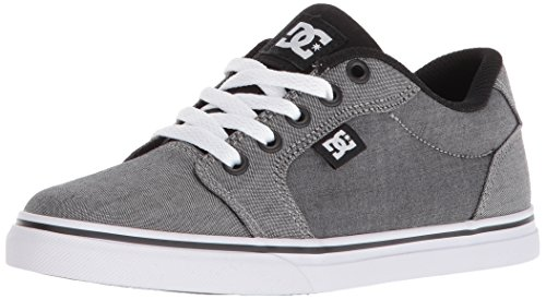 DC Boys' Anvil TX SE Skate Shoe, Black/Black/White, 3.5 M M US Big Kid