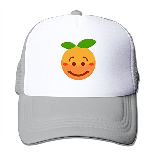 Mens Adjustable Hat Smiley Orange