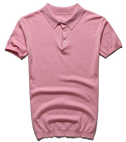 (クレオ ドナ)Creo dona 上質な 大人 の ニットポロ シンプル 無地 半袖 ポロシャツ ゴルフ