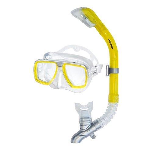 Mares Head Tarpon/Barracuda Mask-Snorkel Combo - Clear/Yellow -