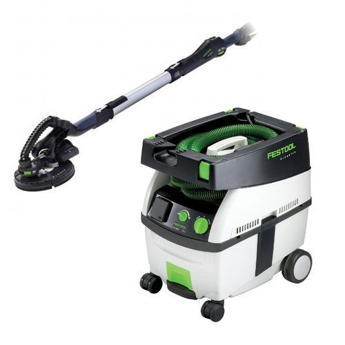 Festool PI571579 Planex Drywall Sander with CT MIDI 3.3 Gallon HEPA Mobile Dust Extractor by Festool