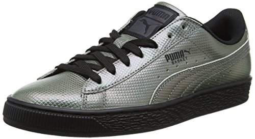 Puma Unisex-volwassenen Basket Klassieke Holografische Low-top Schwarz (puma Black 01)