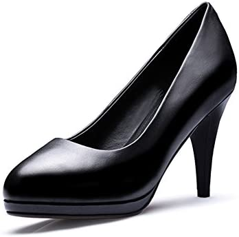 5e8aede14520 N.Y.L.A. XUERUI Comfortable High-heeled Shoes Special Waterproof Platform  Large Size Round Head With Professional Ol Black Small Size Shoes High- heeled ...