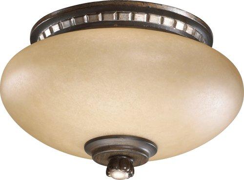 Ashfield Two Light Ceiling Fan Light Kit Finish: Walnut with Antique Flemish ()