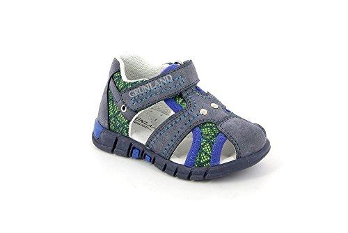 Grünland ORAN PP0179 azul cerrado zapatos sandalias de punta bebé rasgan turquesa
