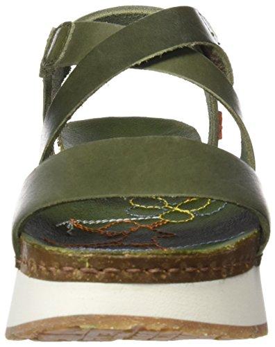 kaki Mojave Mykonos Con Para Verde Art Mujer 0587 Punta Sandalias Abierta PgqWwnvp6O
