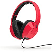 Skullcandy Crusher Headphones with Built-in Amplifier and Mic, Red