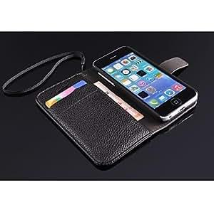 TOPQQ Black stand phone case for iphone 5c case , Black
