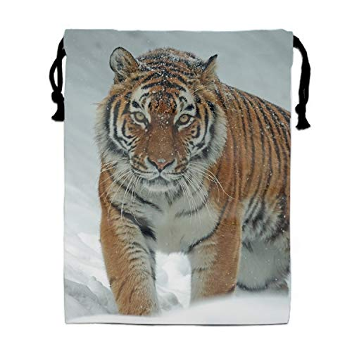 The Tiger In The Snow Drawstring Sports Bag Gym Yoga Sackpack ()