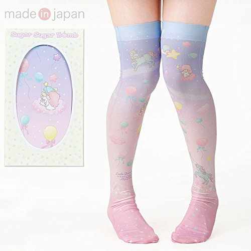 Sanrio Little Twin Stars knee high socks From Japan New (Monster High Dog)