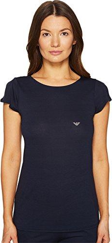 emporio-armani-womens-viscose-loungewear-with-rhinestone-eagle-round-neck-t-shirt-marine-pajama-top