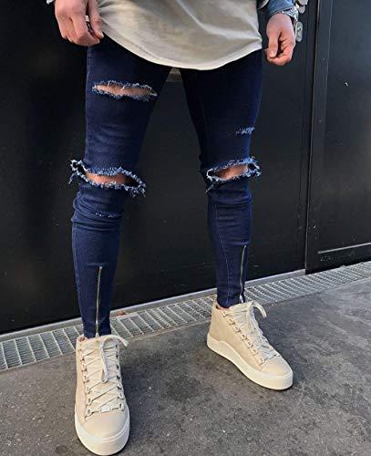 Da Fit Classiche Blue Cotton Alti Ragazzi Ssig Fashion Pantaloni Jeans Slim Comodi Dritti F Elastici Morbidi Uomo pwqdWS